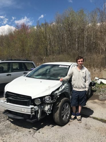 CCCTC Collision Repair Student is Finishing Up College Credits