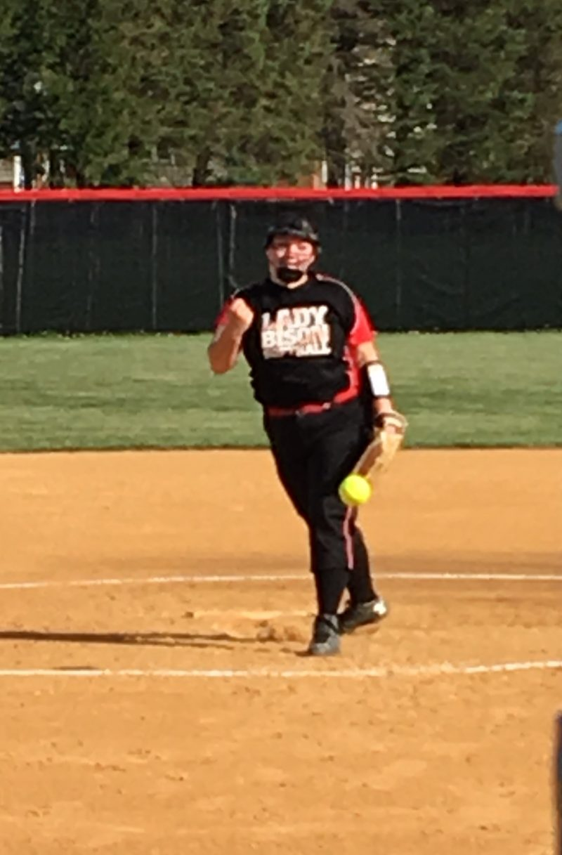 Lady Mounties Defeat Lady Bison 12-2