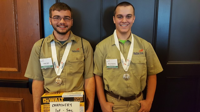 CCCTC Students Compete in SkillsUSA Competitions