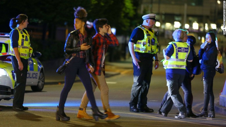 'Skin and blood everywhere': Witness describes chaos in Manchester