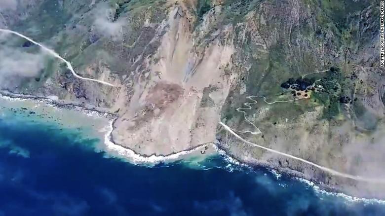 Landslide buries California's scenic highway near Big Sur
