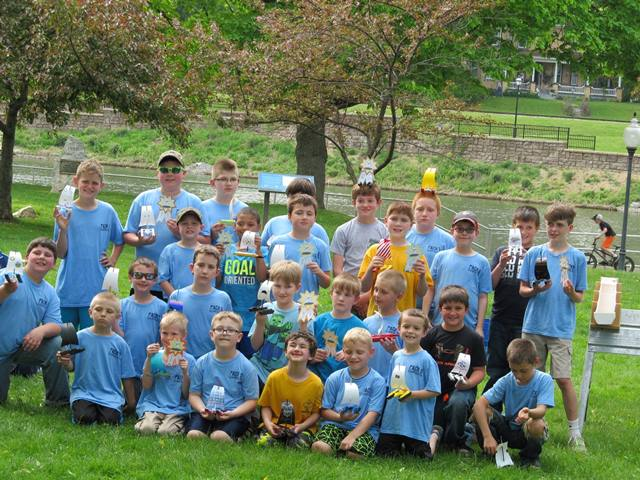 Cub Scouts Hold Raingutter Regatta