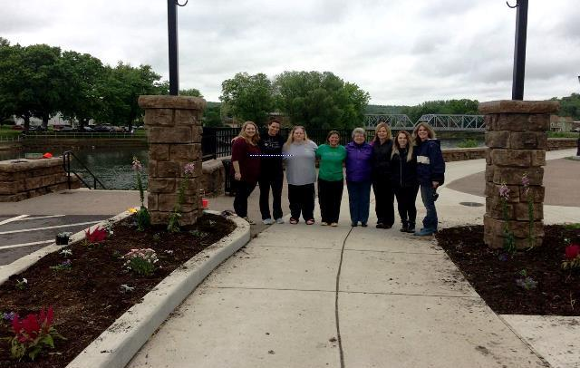 Flowers Planted Along Clearfield Riverwalk in Memory of Curwensville Girl Who Died in Accident