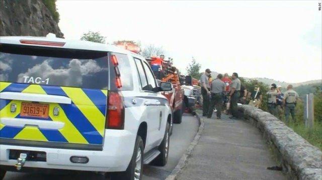 Elderly woman dies in fall off North Carolina overlook