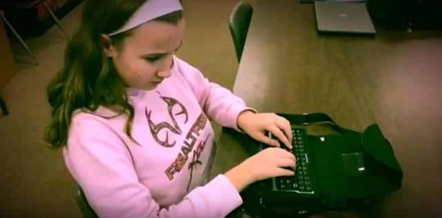 Visually Impaired DuBois Middle School Student Receives Award at Expo