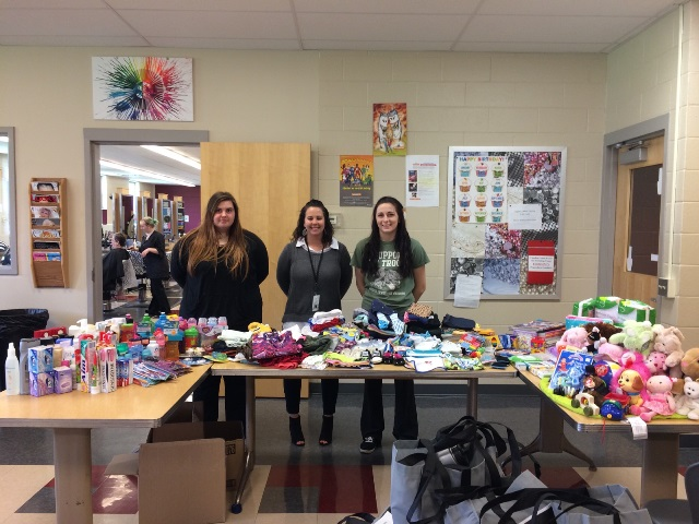 CCCTC's SkillsUSA Community Service Team Collects Items for Foster Children