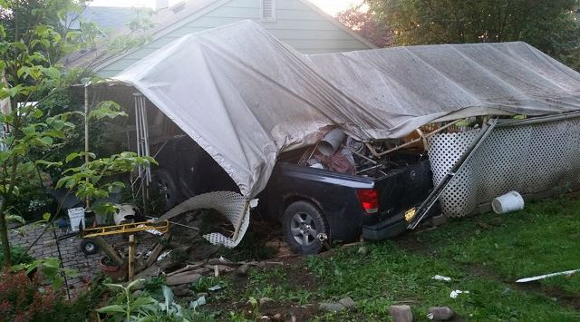 No Injuries Reported After Truck Crashes into House in Clearfield Borough