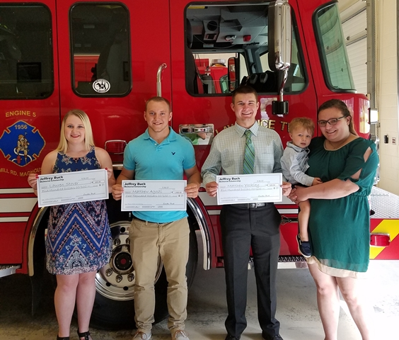 Jeffrey Buck Memorial Scholarship Awarded to Three Clearfield Co. Seniors