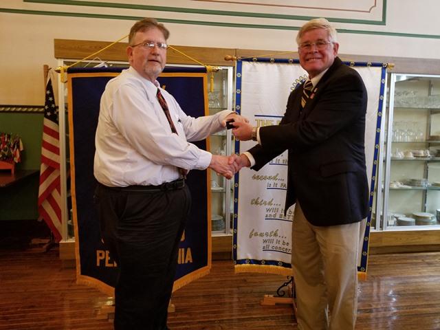 Clearfield Rotarian Receives Paul Harris Fellowship Pin