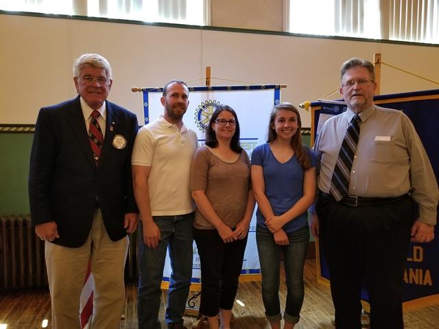 Luzier Awarded Clearfield Rotary Scholarship