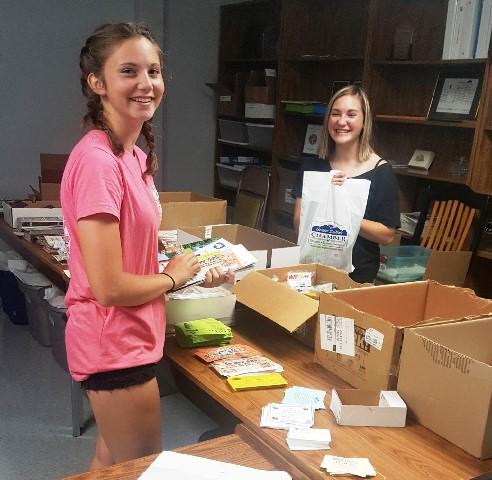 Girls Volunteer at DuBois Chamber