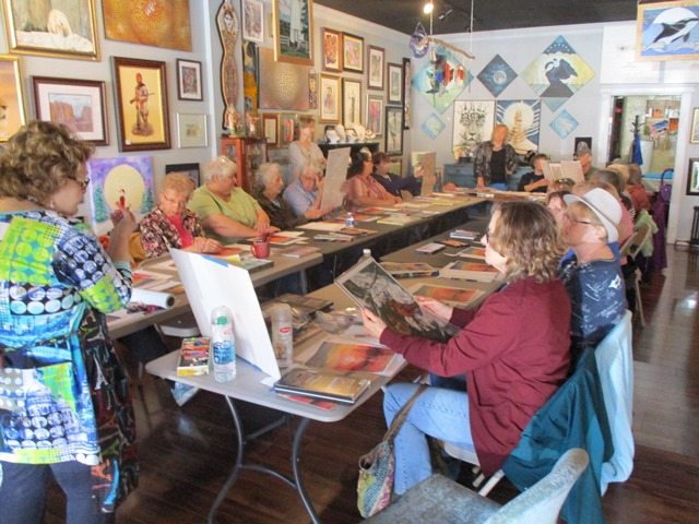 LHU Clearfield Community Life-long Learning Institute Enjoys Hands-On Painting