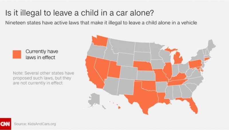 More than 36 kids die in hot cars every year and not all states have laws to stop it