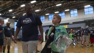 VIDEO: Buddy Program Pairs High School Football Players, Students with Special Needs