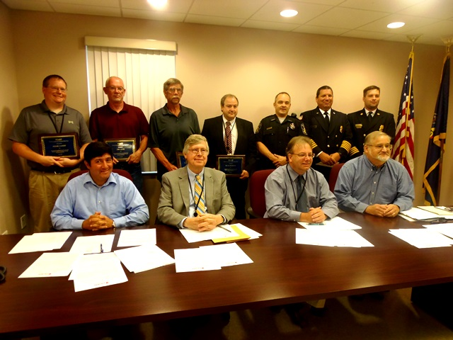 """County Employees Recognized for """"Quick Thinking, Acting"""" During Annex Fire"""
