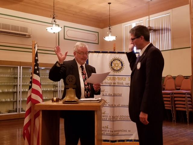Clearfield Rotary Inducts New President