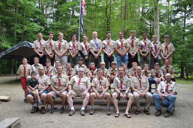 Clearfield Boy Scouts Attend Summer Camp
