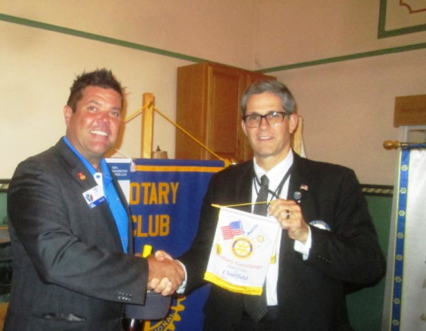 District Governor Visits Clearfield Rotary