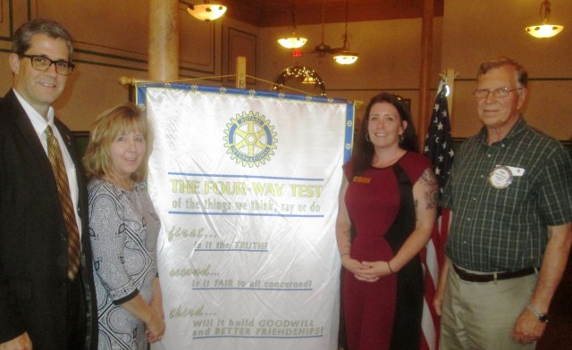 Clearfield Rotary Hears Program Given by McCullough, Schickling