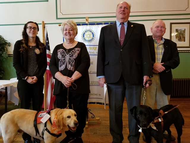 Clearfield Rotary Hears About Service Dogs