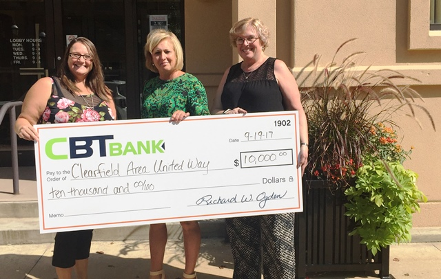 Clearfield United Way Receives Campaign Contribution
