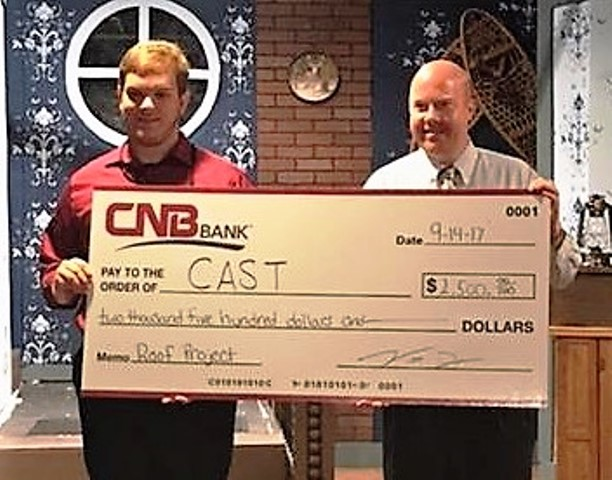 "CAST Kicks Off ""Raise the Roof"" Campaign with Donation from CNB Bank"