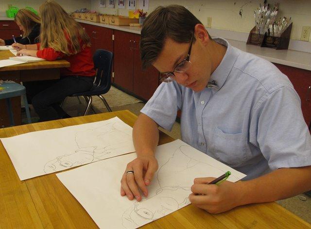 DCC Students Create Self-Portraits