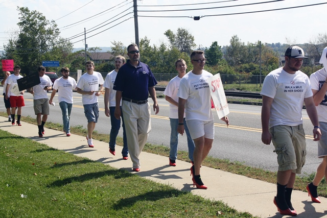 Penn State DuBois Men Put on High Heels for Walk a Mile Event