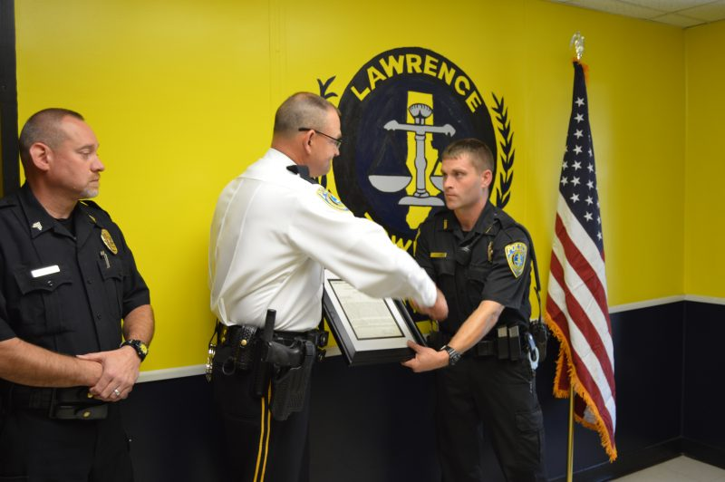 Lawrence Twp. Police Officer Receives Commendation