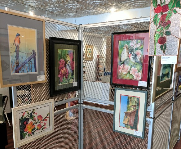 Flower Ridge in Water & Glass Exhibit Being Held at Elk County Council on the Arts