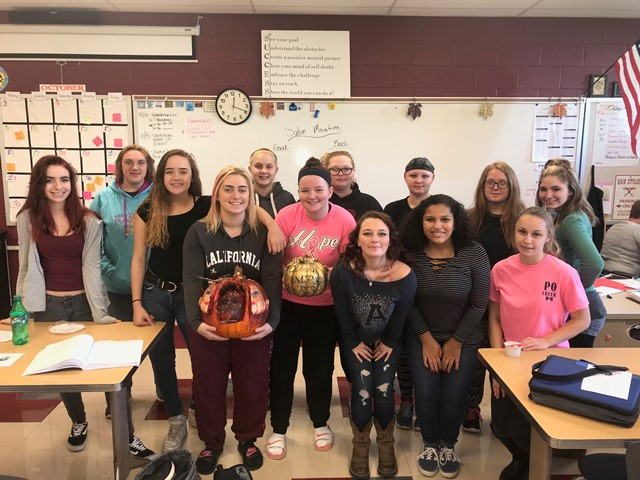 CCCTC Students Participate in Annual Pumpkin Decorating Contest