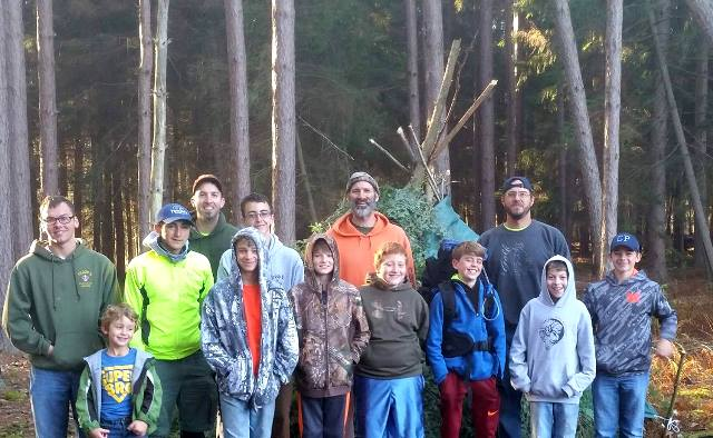 Boy Scouts Participate in Wilderness Survival Campout