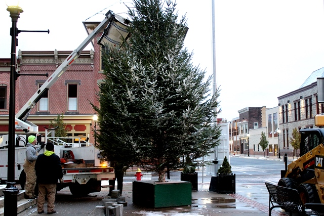 Community Christmas Tree Delivered to Downtown Clearfield