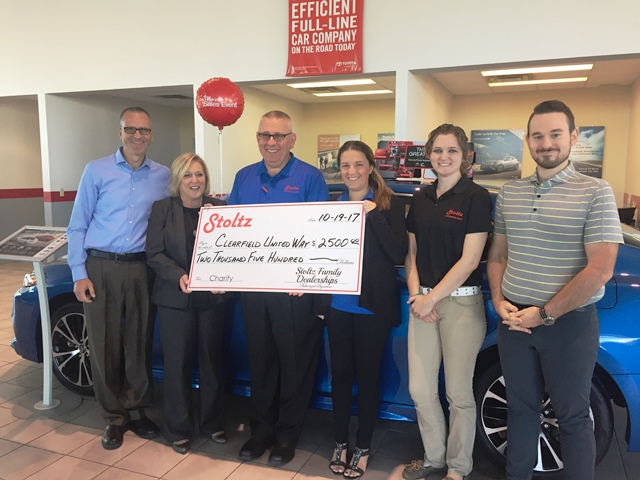 Clearfield Area United Way Receives Campaign Donation