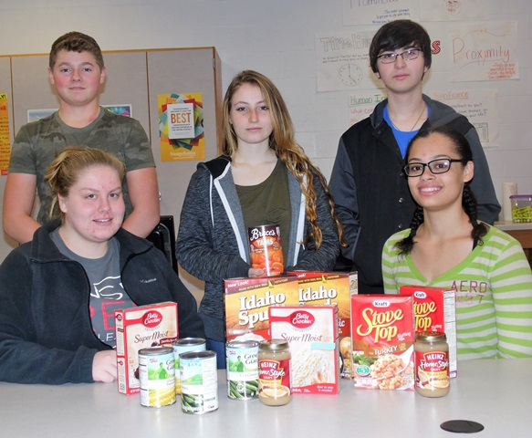Students Collecting Food for Salvation Army