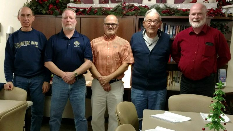 Curwensville and Grampian Knights of Columbus Council Members Go Christmas Caroling