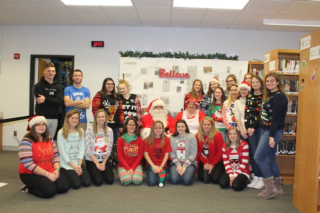 Clearfield Student Groups Hold Breakfast with Santa