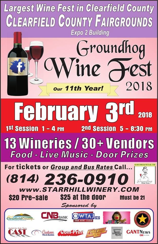 GANT Contest:  Enter to Win 2 Tickets to Groundhog Wine Fest 2018