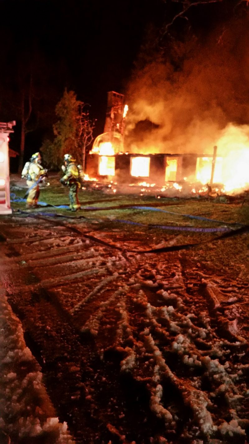 Lawrence Township Camp Destroyed by Fire