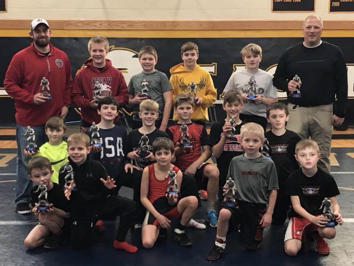 Clearfield Elementary Wrestling Team Takes Second at Bald Eagle Duals