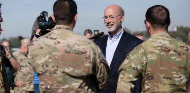 Gov. Wolf Thanks Pennsylvania National Guard Troops Headed to Middle East
