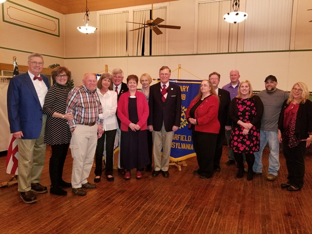 Clearfield Rotarians Hold Valentine Dinner