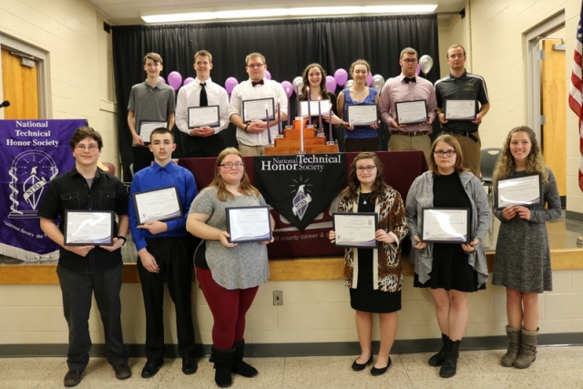 CCCTC Students Inducted into National Technical Honor Society