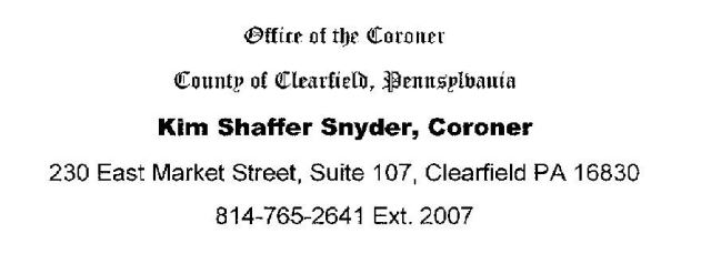 Coroner's Office Issues Annual Report