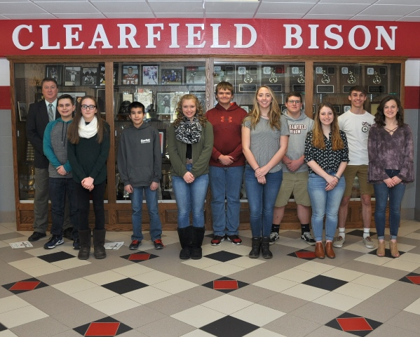 Clearfield Area Junior-Senior High School's Students of the Month