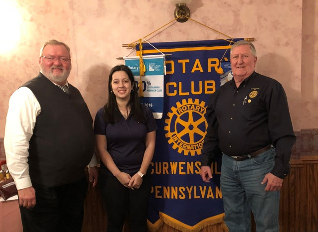 Curwensville Rotary Hears About Clearfield Co. Night with State College Spikes