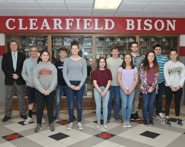 Clearfield Students of the Month for April