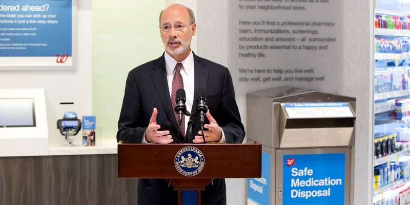 Governor Wolf: Saturday is Prescription Drug Take-Back Day