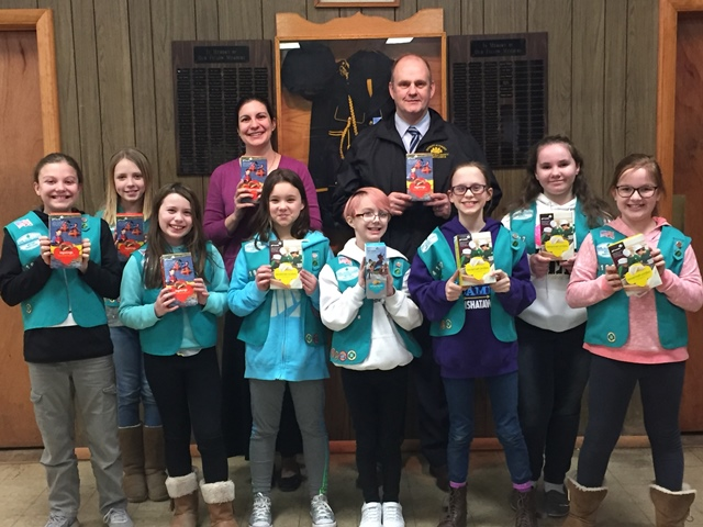 Local Girl Scout Troop Donates to Child Advocacy Center of Clearfield County