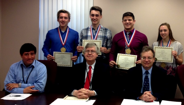 Clearfield Commissioners Recognize County's State Champion Athletes